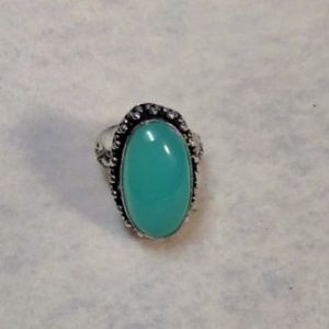 Chalcedony & Sterling Silver Ring